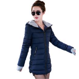 Green Slim Parka Jacket Australia - Warm Winter Jackets Women Fashion cotton padded Parkas Casual Hooded Long Coat Thicken Zipper Slim Fit Plus Size Long Parka 2019 T190610