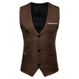 $enCountryForm.capitalKeyWord Australia - New Arrival Vests For Men Slim Fit Mens Suit Vest Male Waistcoat Gilet Homme Casual Sleeveless Formal Business Jacket Y1253