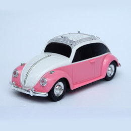 party decorations kids cars Canada - Car Model Toys, Retro Vintage Beetle Car Wireless Bluetooth Speaker, with TF Card and U Disk Interface, for Party Kid' Gift, Home Decoration