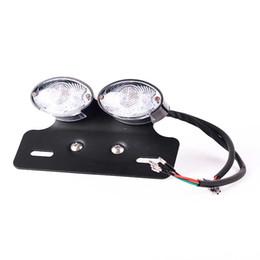12v Tail Lights Australia - 28 LED Motorcycle Turn Signal Brake License Plate Integrated Tail Light 12V For Quad ATV