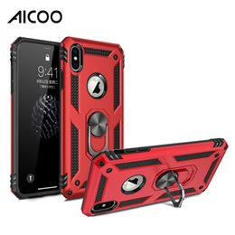 Iphone 5g Tpu Australia - AICOO Defender Metal Holder Kickstand Case TPU PC Shockproof Anti-fall Cover for iPhone XS MAX Plus Samsung S10 5G A50 A70 M10 Stylo 5 OPP