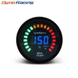 Wholesale Dynoracing Black 2 inch 52mm Digital LED Car Oil Temp Gauge 20-150 Celsius Oil Temperature gauge Car meter BX101454