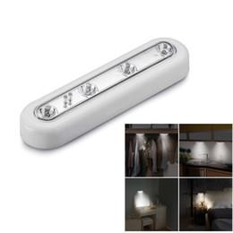 Touch Sensor luce del Governo del LED Armadio della lampada del sensore 4 Stick On Wall sotto il Governo Cupboard Light Touch Camera Luce in Offerta