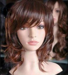 $enCountryForm.capitalKeyWord Australia - WIG LL<<< 002240 pretty medium brown mix curly hair wigs for women