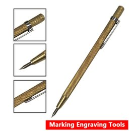 engrave tools Australia - Steel Tip Scriber Pen Marking Engraving Tools Metal Shell Lettering Tool 14.3cm Tip Scriber 3pcs set