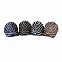 ClassiC hats online shopping - Plaid Baseball Hat Styles Outdoor Sport Women Men Snapback Classic Sunshade Bent Hat Leisure Summer Party Hats OOA6796