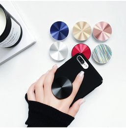 black hand ring holder Australia - Custom Handheld mobile phone holder ring buckle car magnetic metal mobile stand bracket hand grip cell phone holder