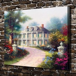 House Art Framing Australia - Thomas Kinkade,Homestead House,1 Pieces Canvas Prints Wall Art Oil Painting Home Decor (Unframed Framed) 24x32