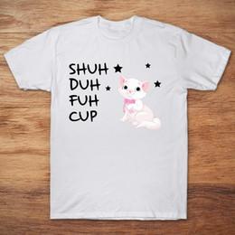 $enCountryForm.capitalKeyWord Australia - Brand Illustration Of Adorable White Kitten Shuh Duh Fuh Cup T-SHIRT 2019 Men's Short Sleeve T-Shirt