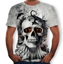 Best Printed Shirts Australia - 2019 Best selling Halloween Shantou men's 3D printing T-shirt summer round neck casual breathable comic shirt