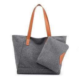 7ANB New canvas bag female shoulder handbag European and American fashion large capacity wild child casual canvas bag female tide handbag