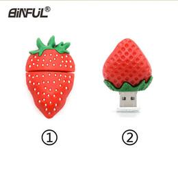$enCountryForm.capitalKeyWord Australia - Cute Cartoon Strawberry Pen Drive 4gb 8gb 16gb 32gb 64gb Pendrive Flash U Usb 2.0 Fruits Memory Stick