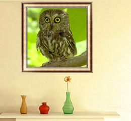 $enCountryForm.capitalKeyWord Australia - Brown Owl Cute Animal DIY 5D Diamond Stitch Round 3D Diamond Stitch Tools Kit Diamond Mosaic Room Decor Without Frame