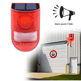 $enCountryForm.capitalKeyWord Australia - Solar Strobe Lights,Motion Sensor Security Alarm Emergency LED Strobe Warning Light Wireless Garden Lamp for Outdoor Yard Personal Farm