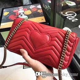 Genuine Leather Handbag Cowhide Shoulder Bag Australia - Marmont cowhide leather handbags women famous brands shoulder bag designer luxury handbags purses chain fashion crossbody bag