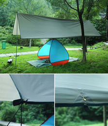 Waterproof Tent Shelter Australia - 10PCS Waterproof Camping Mat 3*4M Mattress Shade Outdoor Tent Cloth Multifunction Awning Shelter Tarps Canopy Picnic Mat Ground Mats