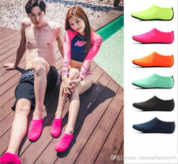 Dive Suits Wholesale NZ - Water Sports Diving Socks Kids Adults Anti Skid Beach Socks Breathable Fabric Quick Drying Swimming Surfing Wet Suit Shoes DHL