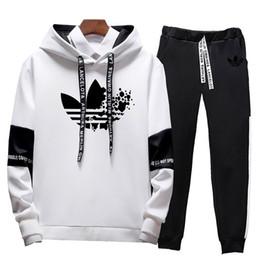 Sportswear Hoodie Tracksuit Australia - Casual Tracksuit Men Sweatshirts Slim Men Set Pants Suits Solid Long Sleeved Male Clothing Hoodie+Pants Sportswear 2019