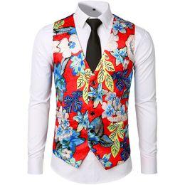 $enCountryForm.capitalKeyWord Australia - Cool2019 Men's Autumn Wear Jacquard Weave Printing Cartoon Single Row Five Button Design Decorative Pattern Long Sleeve Vest Jacket Sv04