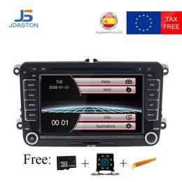 $enCountryForm.capitalKeyWord Australia - JDASTON Car Multimedia Player For Volkswagen VW Passat B6 CC Polo Golf 4 5 Jetta Caddy T5 Bora Skoda Seat 2Din Radio DVD GPS