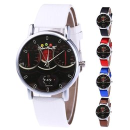 Discount stylish glasses for women - Stylish Casual Leather Strap Quartz Wristwatch Watch Gifts for Women Man Student Couple