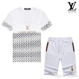 Branded Baby Kids Clothes Australia - iduzi Spring Luxury Designer Baby Boy's t-shirt Pants Two-piec Suit Kids Brand Children's 2pcs Cotton Clothing Sets
