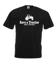 Farming tractors online shopping - SAVE A TRACTOR funny farm gift NEW Men Women T SHIRTS TOP size s m l xl xxL