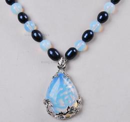 $enCountryForm.capitalKeyWord Australia - Black Akoya cultured pearls   Sri Lanka Lunar Stone Pendant (28x35mm) 18 inch necklace
