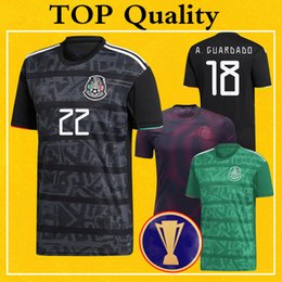 $enCountryForm.capitalKeyWord NZ - Mexico Jersey 2019 Gold Cup Soccer Jerseys Women Home Black LOZANO RAUL A.GUARDADO Pre-Match Training Top Quality Football Shirt