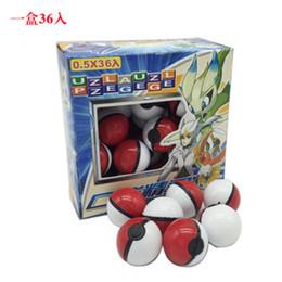 $enCountryForm.capitalKeyWord Australia - Pikachu Anime Cartoon Mini Ball with Doll Card Stickers Crystal Pet PokeBall ABS Classic Pvc Ball Toys Magic Baby Figures Ball 36Pieces Lot