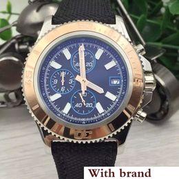 $enCountryForm.capitalKeyWord NZ - Style Superocean Chronograph 1884 Chronomat Colt Quartz Two Tone Aerospace Black Dial Wristwatches Rubber Belt Hurricane Men Watches