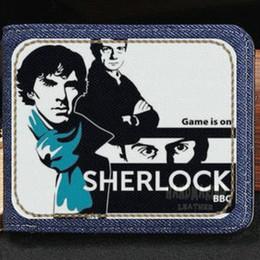 H Case Australia - Sherlock wallet Detective teleplay purse John H Watson short cash note case Money notecase Leather jean burse bag Card holders