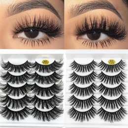 flare false eyelashes NZ - Hot Sale 5 Pairs 3D Faux Mink Hair False Eyelashes Handmade Natural Wispy Flared Lashes Extension Women Fashion Eye Makeup Tools