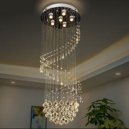 $enCountryForm.capitalKeyWord Australia - K9 Crystal Modern Elegant Chandelier For Spiral Design LED Luxury Crystal Chandelie Hanging Interior Ladder Corridor Lamp