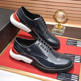 style winter shoes Canada - Luxury Derby Shoes Autumn and Winter Men's Shoes Breathable Style Men Leather Dress Comfortable Wedding Formal Flats Shoes Drop Ship