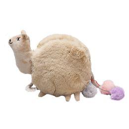 $enCountryForm.capitalKeyWord UK - Kids Plush Crossbody Bag Toy Mini Cute Cartoon Animals Alpaca Plush Bags Lovely Sheep Phone Bag for Children Birthday Gifts