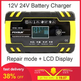 4a usb Australia - Fully automatic Car Battery Charger 12V 8A 24V 4A Smart Fast Charging for AGM GEL WET Lead Acid Battery Charger LCD Display