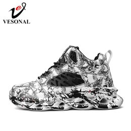 red high top hip hop shoes Australia - 2020 Spring Graffiti High Top Hip Hop Sneakers Men Shoes Breathable Lightweigh Male Shoes Footwear street hightop Red