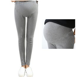 white cotton drawstring pants women Canada - Spring Summer Maternity Pants for Pregnant Women Cotton Maternity Leggings Clothing Pregnant Women Pregnancy Trousers & Leggings