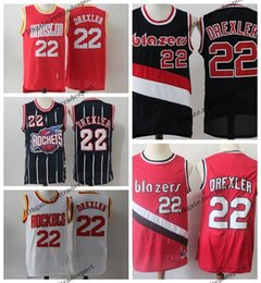e0fcb5c85 Rockets jeRseys online shopping - Vintage Mens Portland Clyde Drexler Trail  Blazer Basketball Jerseys Black Cheap
