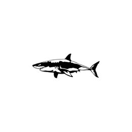 shark accessories UK - Car Sticker Car Shark Vinyl Car Packaging Label Accessory Product Decoration Decal Marine Life