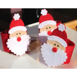 Santa Rings Australia - 1 PCS Christmas Santa Claus Napkin Ring Serviette Holders Table Decor Restaurant Supplies