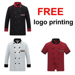 Chef Prints Australia - Chef Uniform Costume Breathable Food Service Top Free Logo Printing Short&full Sleeve Restaurant Kitchen Man Shirt Clothing