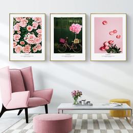 Hd flowers painted canvas online shopping - HD Printed Flowers Open Wall Art Canvas Painting Nordic Posters And Prints Decoratie Schilderijen Voor Woonkamer Aan De Muur