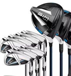 Toptan satış Hızlı Kargo Ücretsiz Golf Putter + Tam Set SIM MAX Golf Kulüpleri Sürücü 3. 5. Fairway Woods + Golf Irons Real Resimleri Satıcıyla