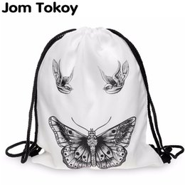 picnic backpack wholesale Australia - women backpack printing bag for picnic mochila feminina harajuku drawstring bag mens backpacks butterfly tattoo