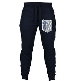 Discount attack titan full cosplay - Japan anime Attack on Titan Shingeki no Kyojin pants Anime Cosplay Joggers Cosplay Costume men Sweatpants