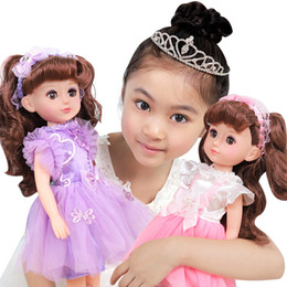 $enCountryForm.capitalKeyWord UK - Simulation doll Genuine touchtalk sounding Doll Fashion Doll 5PCS smart girl princess toy Dolls soft body for girl toys Sound Touch Talk