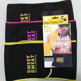 $enCountryForm.capitalKeyWord Australia - Sweet Sweat Premium Waist Trimmer Men Women Belt Slimmer Exercise Ab Waist Wrap with color retail box