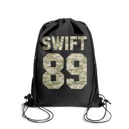 $enCountryForm.capitalKeyWord UK - Drawstring Sports Backpack Taylor Swift pop music Camouflagecute durable school Travel Fabric Backpack